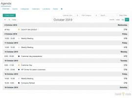 List overview in Agenda